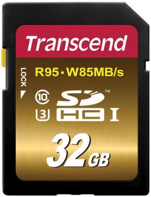 Карта памяти SDHC 32GB Class 10 Transcend UHS-I U3X Ultimate TS32GSDU3X карта памяти transcend 32gb sdhc class 10 uhs i ts32gsdhc10u1