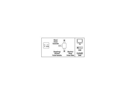 Антенный разветвитель Hama Coax(m-m) 00122471 антенный адаптер hama coax m f m 00122485 page 5