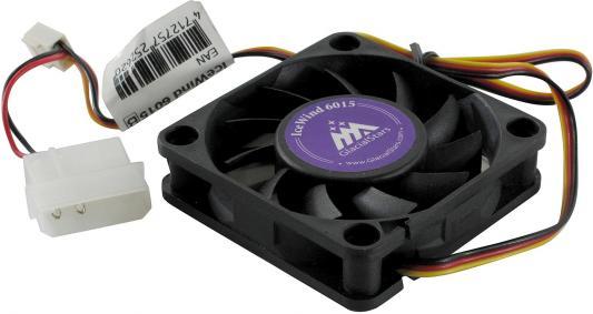 Вентилятор Glacialtech IceWind 6015 60x60x15 3pin+4pin 25dB 75g OEM