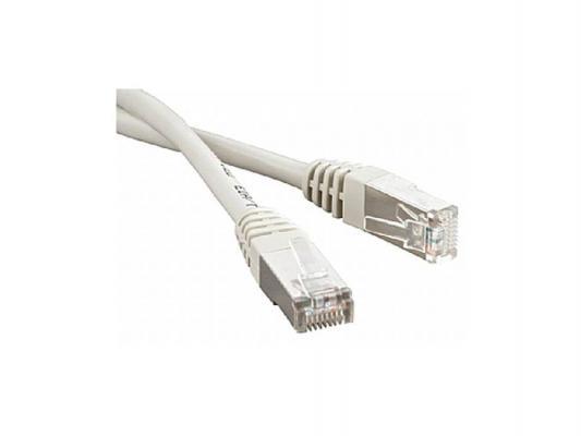 Патч-корд FTP 5E категории 1м Hyperline PC-LPM-STP-RJ45-RJ45-C5e-1M-GY серый
