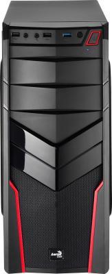 Корпус ATX Aerocool V2X Red Edition Без БП чёрный красный 4713105952650 корпус atx aerocool quartz red без бп чёрный