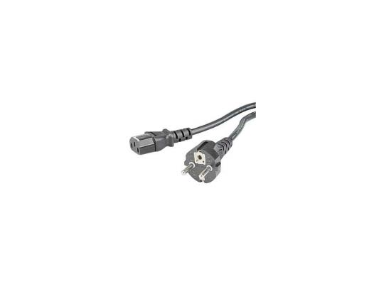 Кабель питания для бытовой электроники 1.5м Hama H-29934 с заземлением черный кабель hama h 41841 питания serial ata 150 300 внутренний 0 2 м