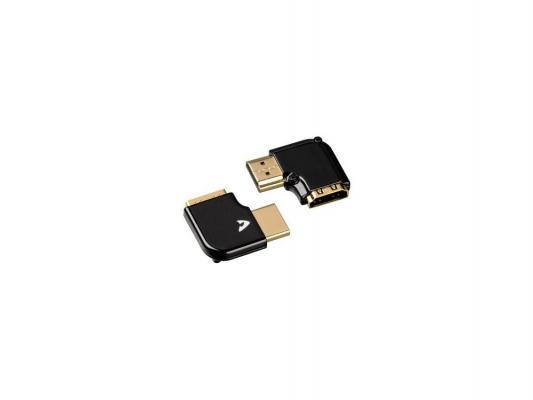 Адаптер HDMI Hama Avinity горизонтальный черный 2шт H-107611