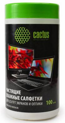 Влажные салфетки Cactus CS-T1001 100 шт