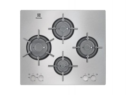Газовая варочная панель Electrolux EGU96647LX независимая электроподжиг газ-контроль нержавеющая сталь серебристый цена