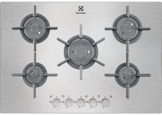 Варочная панель газовая Electrolux EGU97657NX серебристый газовая варочная панель electrolux gpe263fx gpe263fx