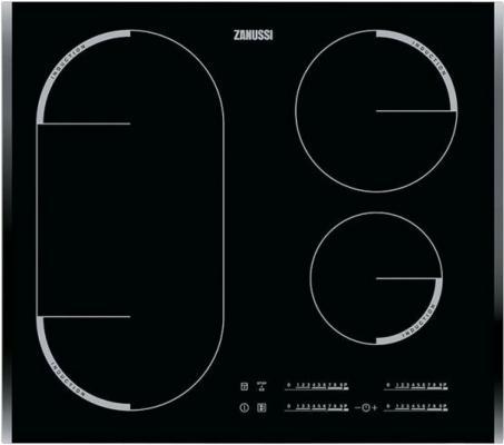 Варочная панель электрическая Zanussi ZEM56740BB черный встраиваемая электрическая панель zanussi zem56740bb