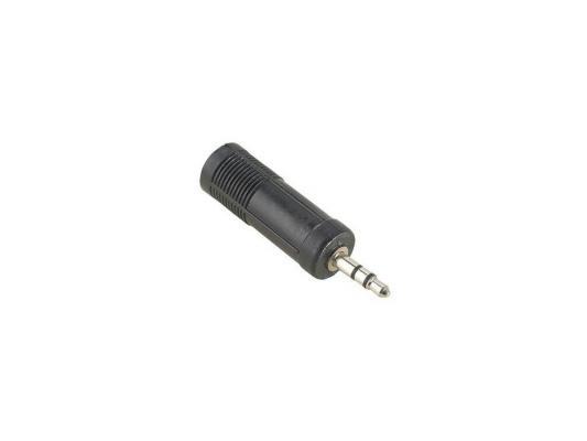 Переходник Hama Jack 3.5(m)-Jack 6.3(f) стерео черный H-43375 адаптер hama 2x3 5 мм jack f 3 5 мм jack m стерео черный h 43353