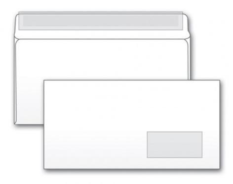 Конверт E65 Gembird2 125638 1000 шт 80 г/кв.м белый