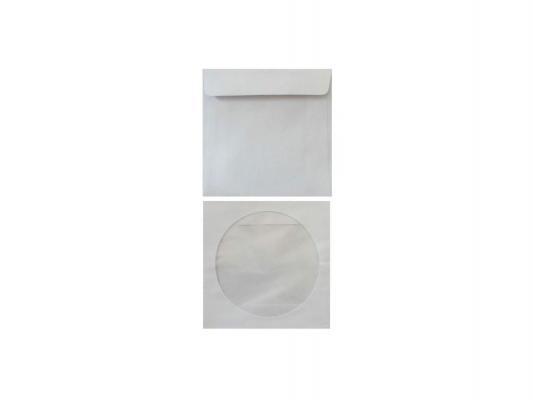 Конверт для CD 201070/201073 с окном с клеевым слоем 1000шт белый