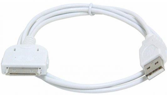 Кабель 30 pin 1м Gembird круглый CC-USB-AP1MW аксессуар кабель usb gembird для iphone ipod ipad 1m cc usb ap1mw white