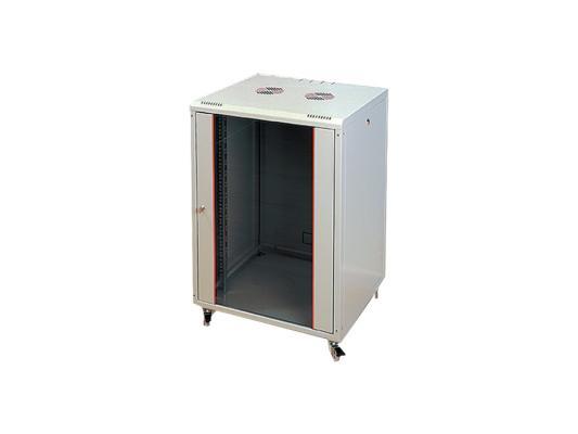"""Шкаф настенный 19"""" 20U Estap ProLine PRL20U45GF1 600x450mm дверь стекло с металлической рамой слева и справа серый"""