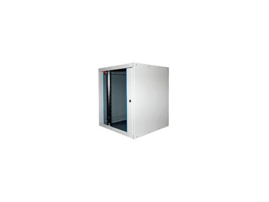 Шкаф настенный 19 16U Estap ECOline ECO16U600GF1 600x600 дверь стекло с металлической рамой слева и справа серый