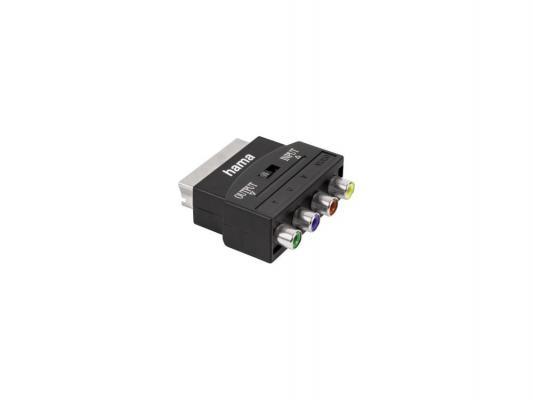 Адаптер Hama YUV+video SCART(m)-4RCA(f) черный 122240