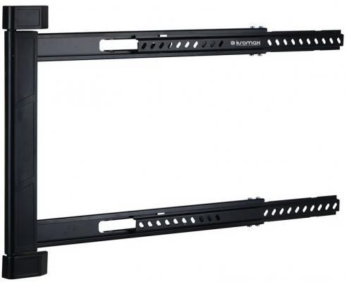 Кронштейн Kromax LEDAS-90 черный до 32-65 настенный от стены 28мм поворот 180° VESA 600х400мм до 45кг