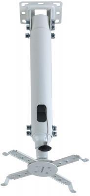 Кронштейн Kromax PROJECTOR-100 белый для проекторов потолочный 3 ст свободы до 20 кг кронштейн holder pr 103 w белый для проекторов потолочный до 20 кг