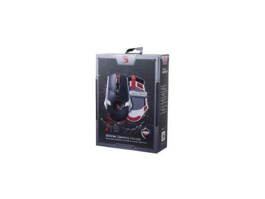 Мышь проводная A4TECH Bloody T5 Winne чёрный серый USB мышь проводная a4tech bloody v7 чёрный usb