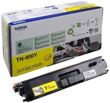 Картридж Brother TN-900Y для HL-L9200CDWT MFC-L9550CDWT желтый 6000стр картридж для струйных аппаратов brother lc3617y желтый для mfc j3530dw j3930dw 550стр lc3617y