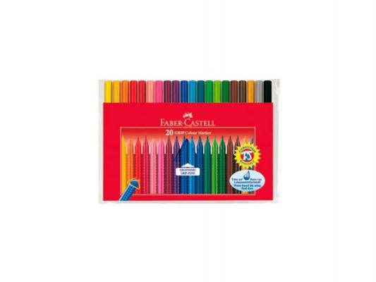 Набор фломастеров Faber-Castell Faber-Castell Grip 0.4 мм 20 шт разноцветный 155320