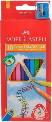 Карандаши цветные Faber-Castell Junior Grip 10 шт 116538-10 faber pareo