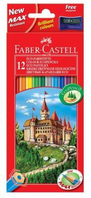 Карандаши цветные Faber-Castell Eco Замок с точилкой 12 шт 120112 карандаши цветные be be 12 цветов с точилкой 466500