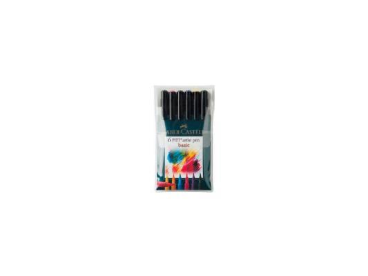 Ручка капиллярная Faber-Castell Pitt Artist Pen 167103 6 цветов faber castell капиллярные ручки pitt artist pen soft brush 8 шт