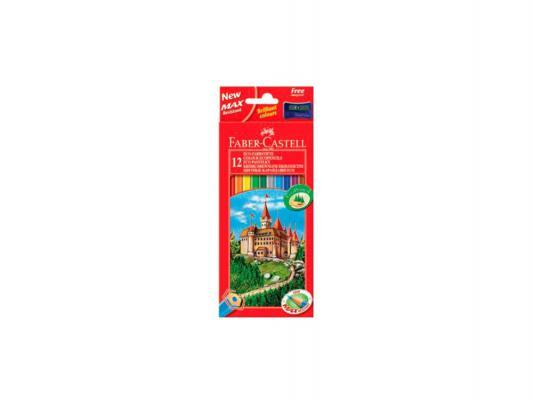 Карандаши цветные Faber-Castell Eco Замок 24 шт точилка 120124