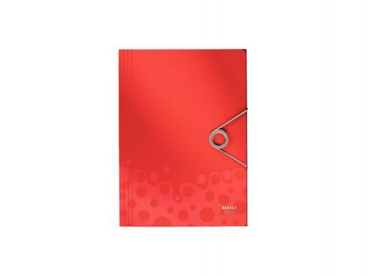 Папка на резинке Leitz Bebop 3 клапана красный 45630025