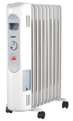 Масляный радиатор Unit UOR-997 2000 Вт белый масляный радиатор unit uor 940 2000 вт белый