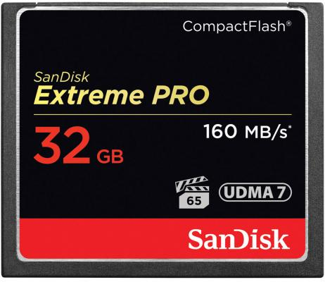 Карта памяти Compact Flash Card 32Gb SanDisk Extreme Pro UDMA 7 SDCFXPS-032G-X46 sandisk extreme compact flash memory card 120mb s