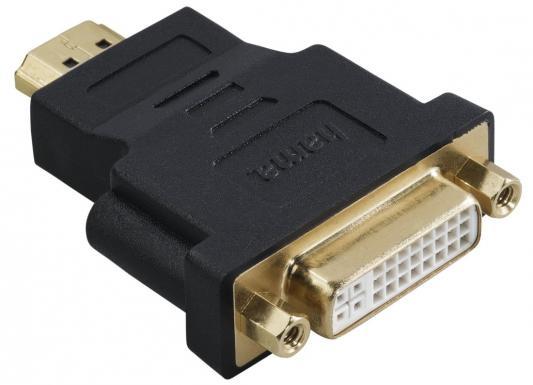 Переходник HDMI(m) - DVI/D(f) позолоченные штекеры черный Hama H-34036