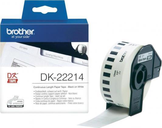 Бумажная клеящаяся лента 12ммх30.5м Brother DK22214