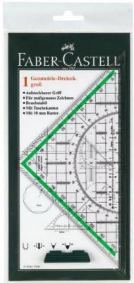 Треугольник Faber-Castell Тека 22.7 см пластик 177090