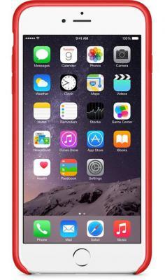 Чехол (клип-кейс) Apple LEATHER CASE BRIGHT RED для iPhone 6 Plus красный -ZML MGQY2ZM/A  LEATHER CASE BRIGHT RED