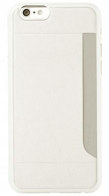 Чехол (клип-кейс) Ozaki O!coat 0.3 + Pocket для iPhone 6 белый OC559WH ozaki o coat 0 3 aim oc564bk black