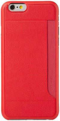 Чехол (клип-кейс) Ozaki O!coat 0.3 + Pocket для iPhone 6 красный OC559RD