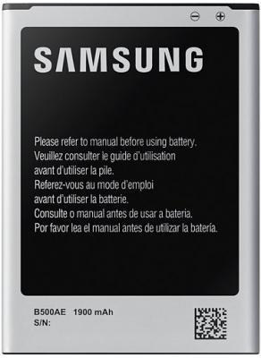 Аккумулятор Samsung EB-B500AEBECRU 1900мАч для Galaxy S4 mini EB-B500AEBE аккумулятор samsung для samsung galaxy s4 2600 mah li ion