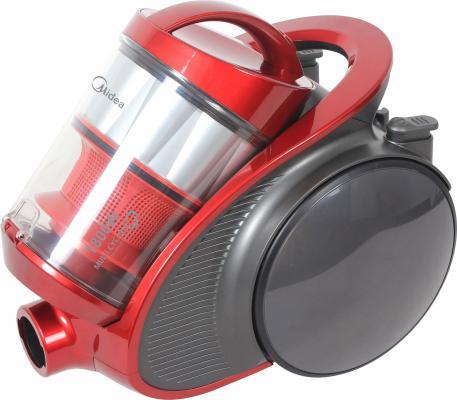Пылесос Midea VCM38M1 с мешком сухая уборка 1800Вт красный пылесос midea vcc35a01k без мешка сухая уборка 1500вт красный