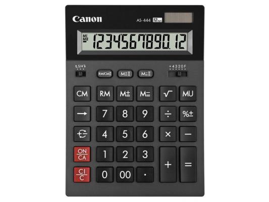 Калькулятор Canon AS-444 HB 12 разряда черный canon as 130 черный