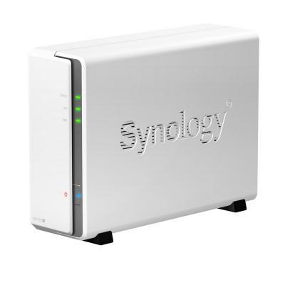 "Сетевой накопитель Synology DS115j 3.5"" SATAII или  2.5"" SATA/SSD 800 Mhz CPU RAM 256Mb"