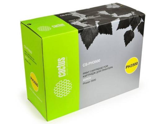 Тонер-картридж Cactus CS-PH3500 106R01149 для Xerox Phaser 3500 3500b черный 12000стр картридж xerox black phaser 3500 106r01149