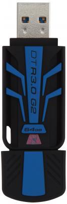 Флешка USB 64Gb Kingston DataTraveler R3.0 G2 USB3.0 DTR30G2/64GB черно-синий