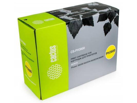 Тонер-картридж Cactus CS-PH3600 106R01371 для Xerox Phaser 3600 3600b 3600dn 3600n черный 14000стр картридж xerox 106r01371