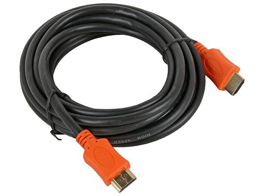 Кабель HDMI 4.5м Gembird CC-HDMI4L-15 круглый черный кабель hdmi 10м gembird cc hdmi 10m круглый черный