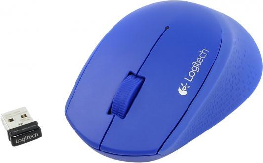 Мышь беспроводная Logitech M280 синий USB 910-004294/910-004290 мышь проводная logitech m105 красный usb 910 002945