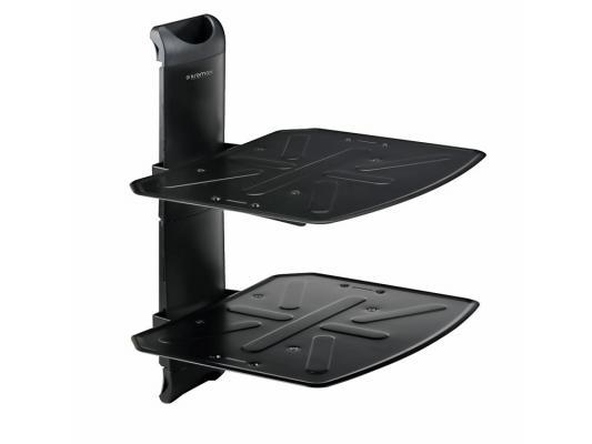 Кронштейн Kromax STEEL-DUO черный настенный от стены 282мм металл 2 полки до 16 кг для A/V систем
