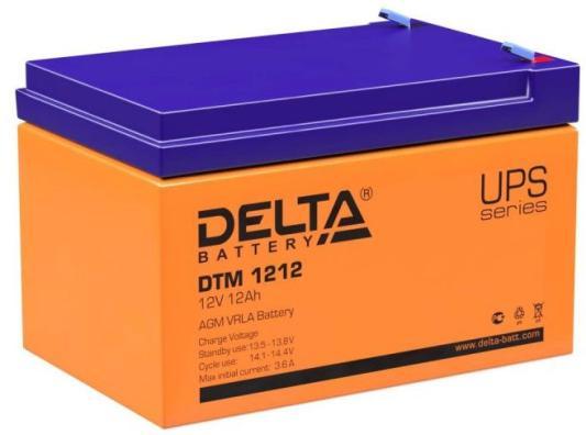 Батарея Delta DTM 1212 12A/hs 12W