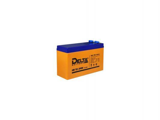 Батарея Delta HR 12-24W 6Ач 12B аккумуляторная батарея для ибп delta hr 12 12 hr 12 12