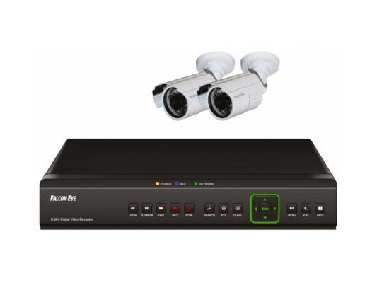 Комплект видеонаблюдения Falcon Eye FE-104D KIT Light 2 цветные камеры 4-х канальный видеорегистратор установочный комплект