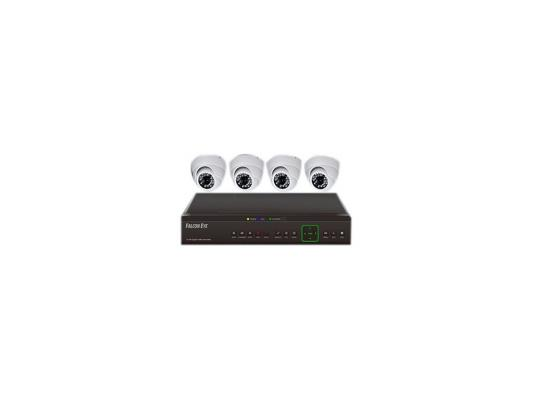 Комплект видеонаблюдения Falcon Eye FE-104D-KIT Дом 4 уличные камеры 4-х канальный видеорегистратор установочный комплект